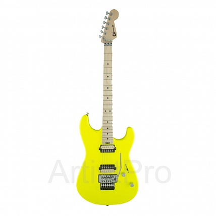 Charvel Pro-Mod San Dimas Style 1 HH FR Maple Fingerboard Neon Yellow